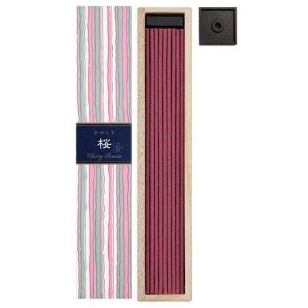 Cherry Blossom fragrance Japanese Incense | Kayuragi by Nippon Kodo | Box of 40 Sticks & Holder
