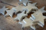 Silbergrau Sterne 6 cm