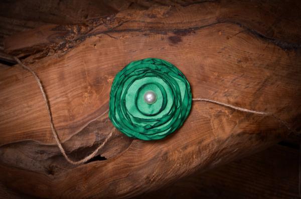 Dark green flower headband