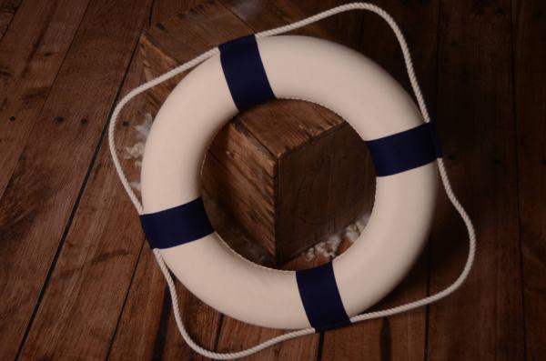 Decorative blue life preserver 50 cm