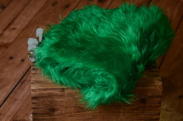 Green long hair blanket