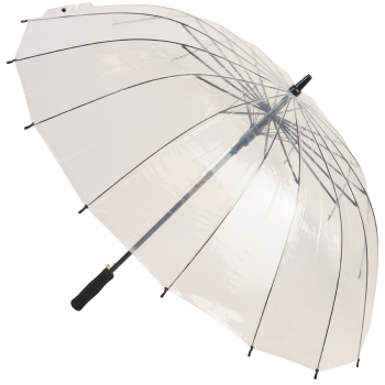16 Rib Automatic Opening Large Clear Umbrella