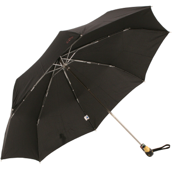 Duck Folding Umbrella by Rainbow of Milan - Black with Yellow Beak